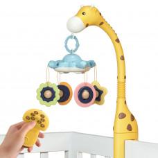 Мобиль на кроватку Tumama Жираф с проекцией и музыкой Желтый