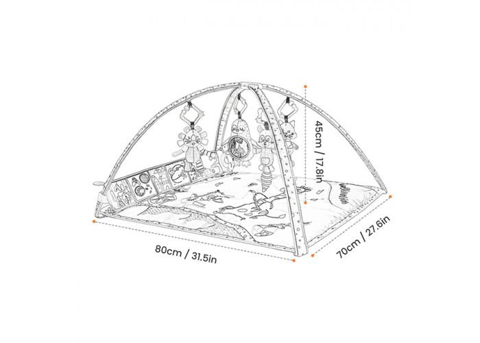Развивающий коврик с дугами Tumama Веселые зверушки
