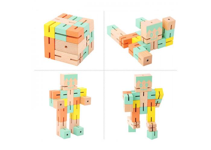 Деревянная головоломка РобоКуб (CubeBot) Зелений