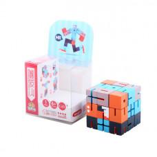 Дерев'яна головоломка РобоКуб (CubeBot) Голубой