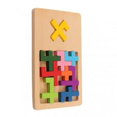 Деревянная игра-головоломка IQ FIT Крест