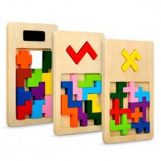 Деревянная игра-головоломка IQ FIT