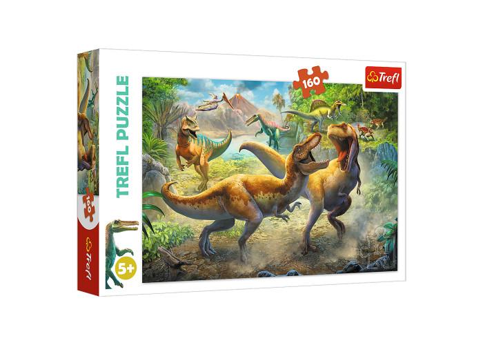 Пазл Trefl Битва Тиронозавров 160 эл.