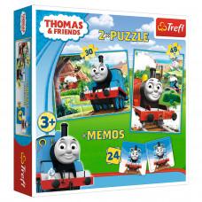 Пазл Trefl 2 в 1 Томас и друзья + Мемос